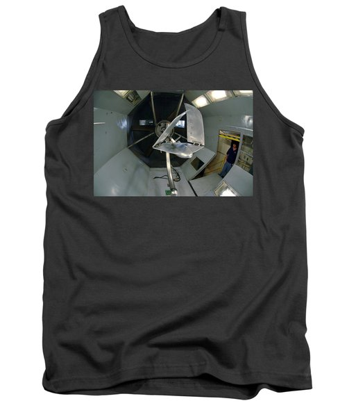 Tank Top featuring the photograph Model Airplane In Wind Tunnel by Science Source