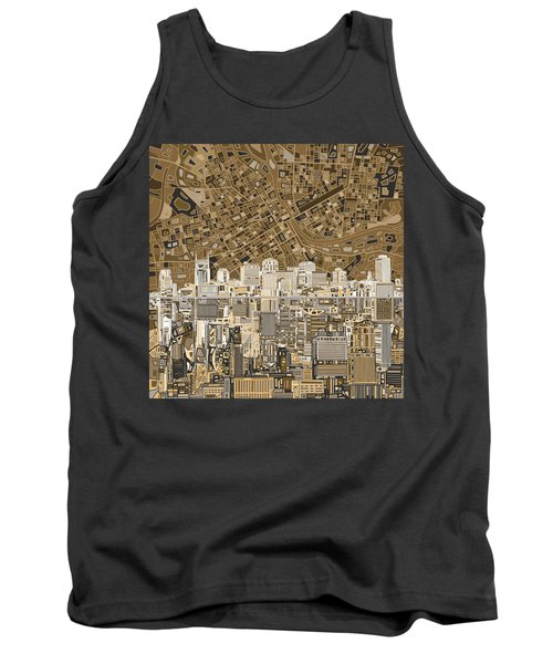 Nashville Skyline Abstract 2 Tank Top by Bekim Art