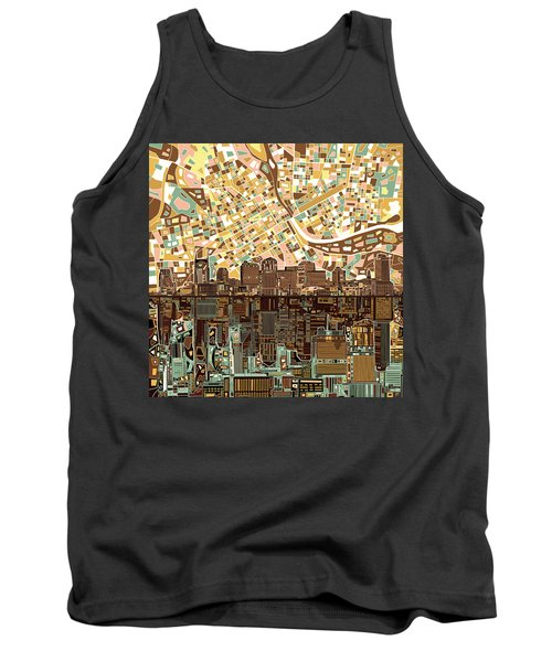 Nashville Skyline Abstract 4 Tank Top by Bekim Art
