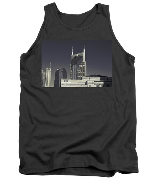 Nashville Tennessee Batman Building Tank Top by Dan Sproul