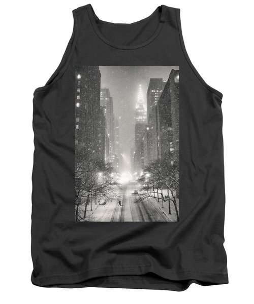 New York City - Winter Night Overlooking The Chrysler Building Tank Top by Vivienne Gucwa