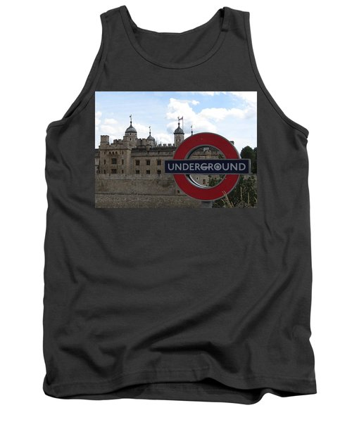 Next Stop Tower Of London Tank Top by Jenny Armitage