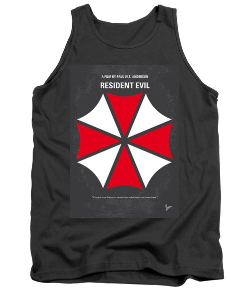 No119 My Resident Evil Minimal Movie Poster Tank Top by Chungkong Art