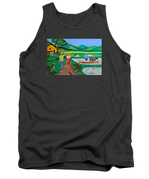 One Beautiful Morning In The Farm Tank Top by Cyril Maza