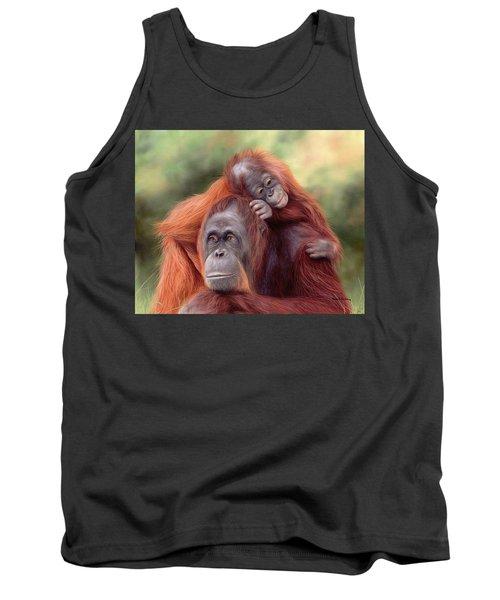 Orangutans Painting Tank Top by Rachel Stribbling