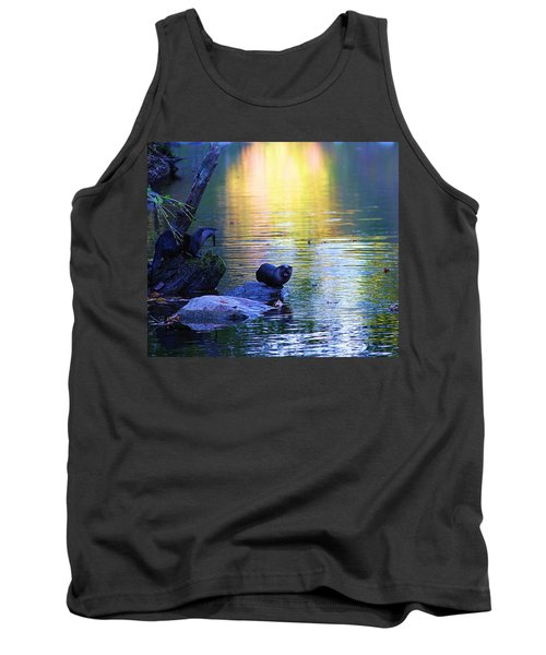 Otter Family Tank Top by Dan Sproul