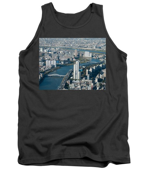 Panorama Of Tokyo Tank Top by Jill Mitchell