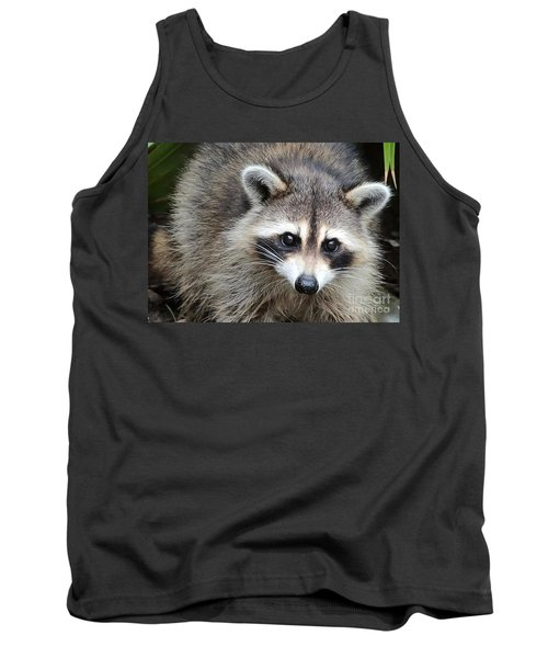 Raccoon Eyes Tank Top by Carol Groenen