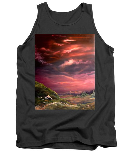 Red Sky At Night Tank Top by Jean Walker