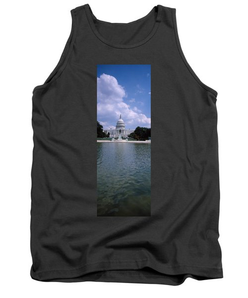 Reflecting Pool With A Government Tank Top by Panoramic Images