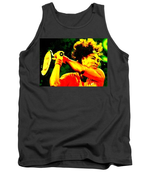 Serena Williams In A Zone Tank Top by Brian Reaves
