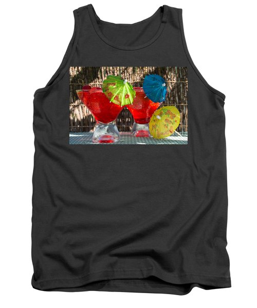 Shirley Temple Cocktail Tank Top by Iris Richardson