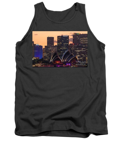 Sydney At Sunset Tank Top by Matteo Colombo