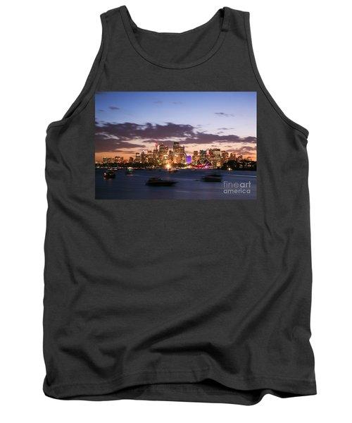 Sydney Skyline At Dusk Australia Tank Top by Matteo Colombo