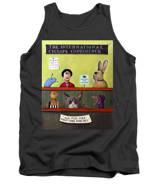 The International Cyclops Conference Tank Top by Leah Saulnier The Painting Maniac