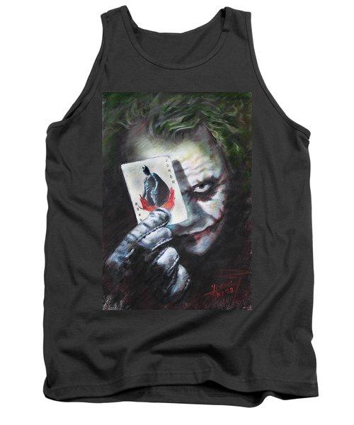 The Joker Heath Ledger  Tank Top by Viola El