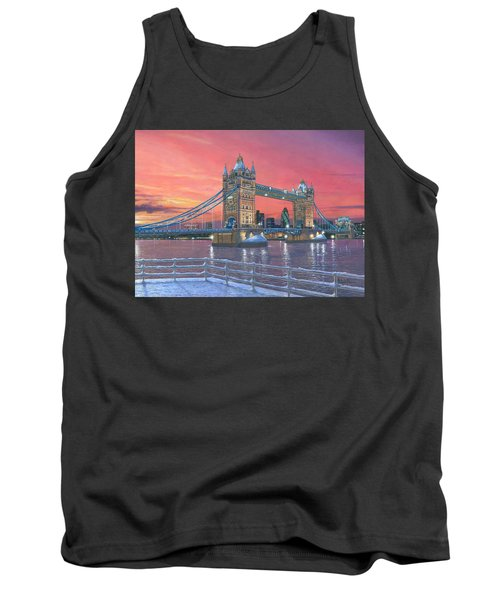 Tower Bridge After The Snow Tank Top by Richard Harpum