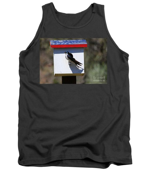 Tree Swallow Home Tank Top by Mike  Dawson