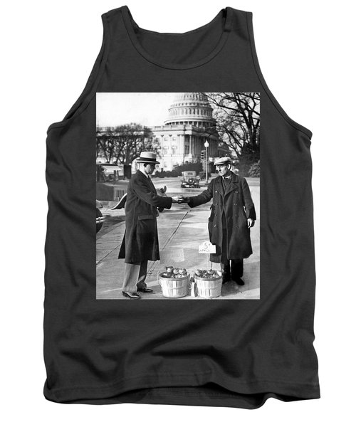 Unemployed Man Sells Apples Tank Top by Underwood Archives