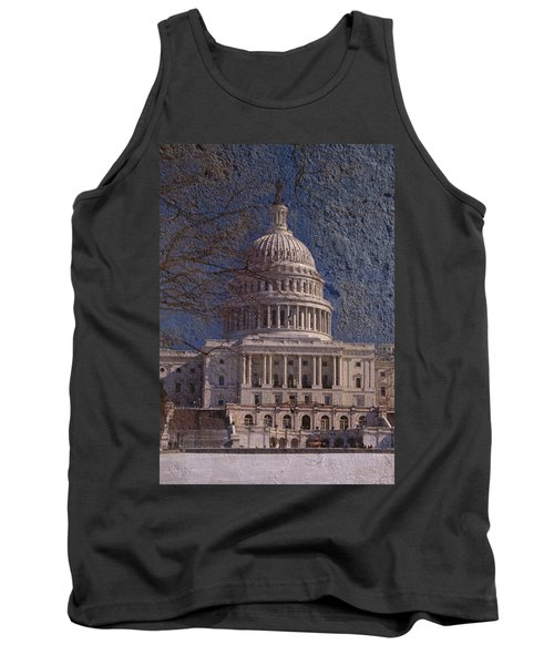United States Capitol Tank Top by Skip Willits