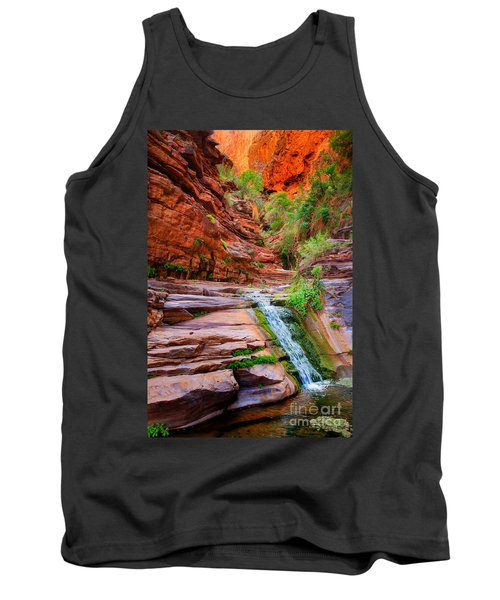 Upper Elves Chasm Cascade Tank Top by Inge Johnsson