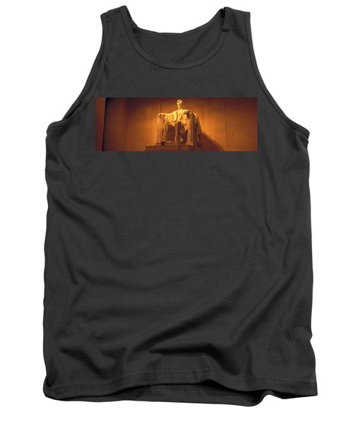 Usa, Washington Dc, Lincoln Memorial Tank Top by Panoramic Images