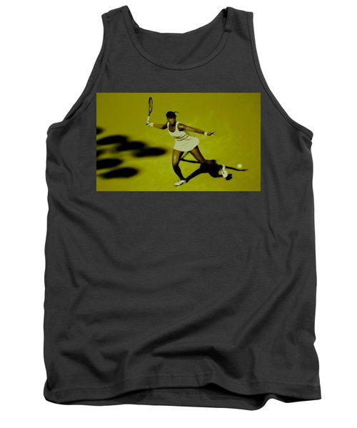 Venus Williams In Action Tank Top by Brian Reaves