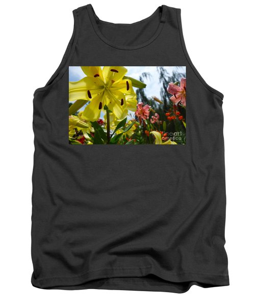 Yellow Whopper Lily 1 Tank Top by Jacqueline Athmann