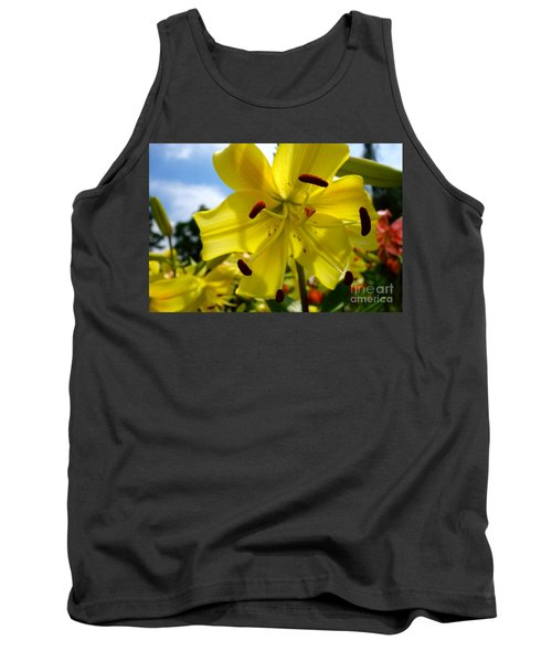 Yellow Whopper Lily 2 Tank Top by Jacqueline Athmann