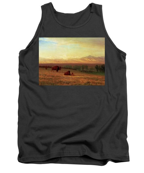 Buffalo On The Plains Tank Top by MotionAge Designs