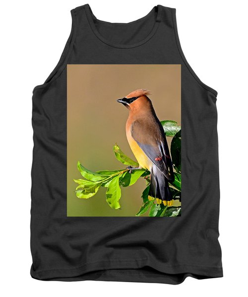 Tank Top featuring the photograph Cedar Waxwing by Rodney Campbell