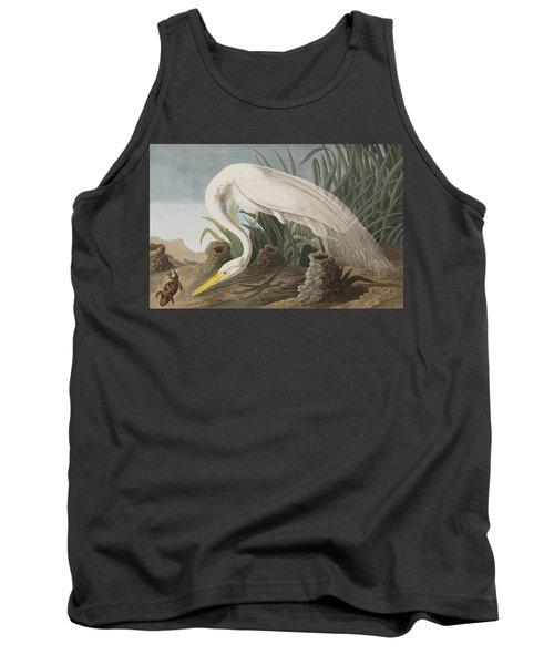 Great Egret Tank Top by John James Audubon
