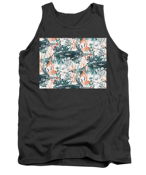 Kingfisher Tank Top by Jacqueline Colley