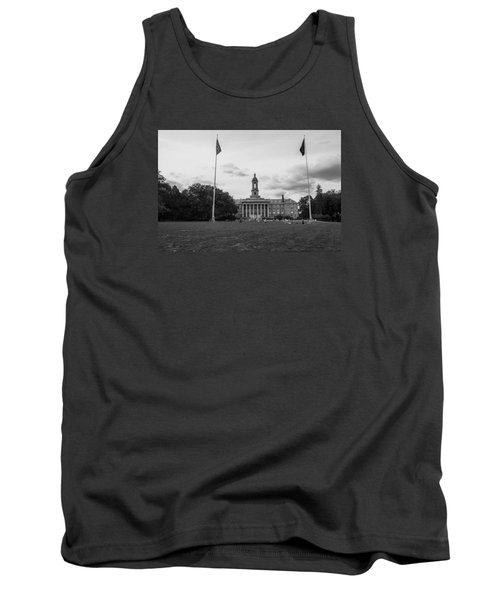 Old Main Penn State Black And White  Tank Top by John McGraw