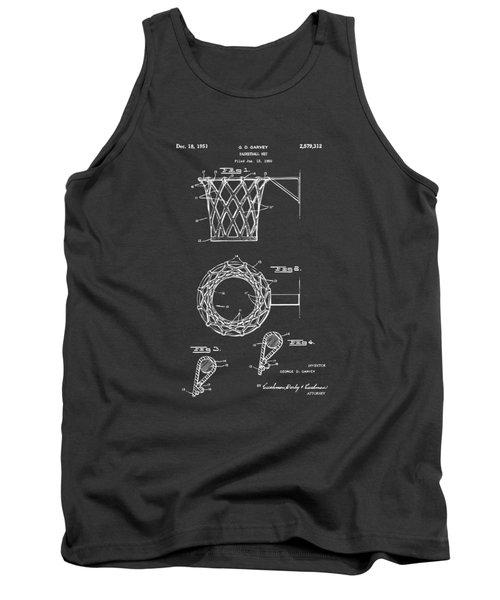 1951 Basketball Net Patent Artwork - Gray Tank Top by Nikki Marie Smith