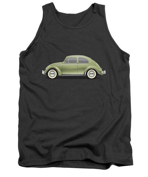 1957 Volkswagen Deluxe Sedan - Diamond Green Tank Top by Ed Jackson