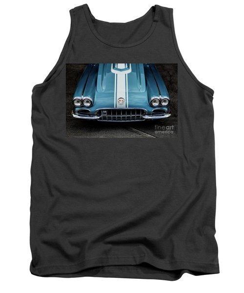 Tank Top featuring the photograph 1960 Corvette by M G Whittingham