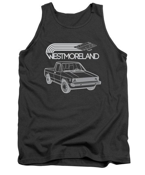 Vw Rabbit Pickup - Westmoreland Theme - Black Tank Top by Ed Jackson