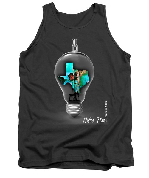 Dallas Texas Map Collection Tank Top by Marvin Blaine