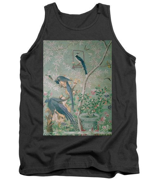 A Pair Of Magpie Jays  Vintage Wallpaper Tank Top by John James Audubon