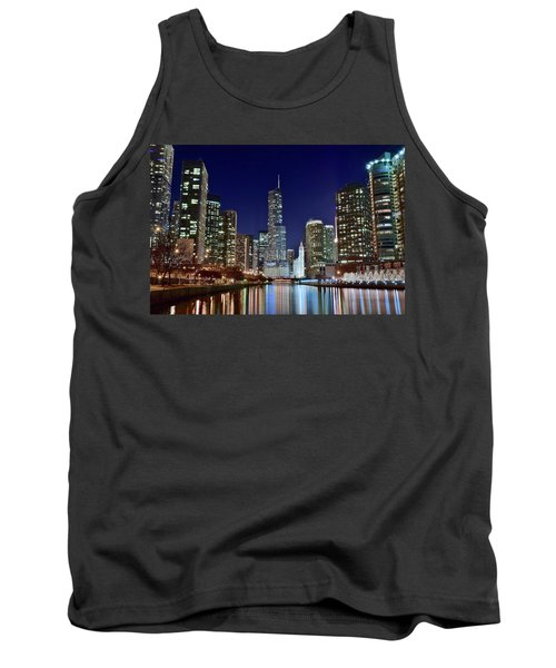 A View Down The Chicago River Tank Top by Frozen in Time Fine Art Photography