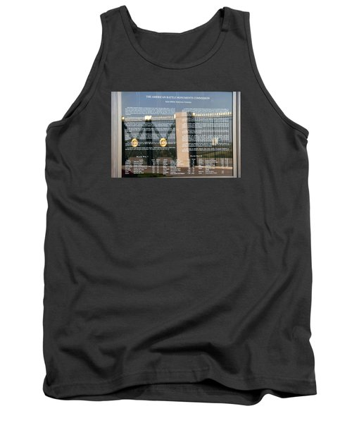 Tank Top featuring the photograph American Battle Monuments Commission by Travel Pics