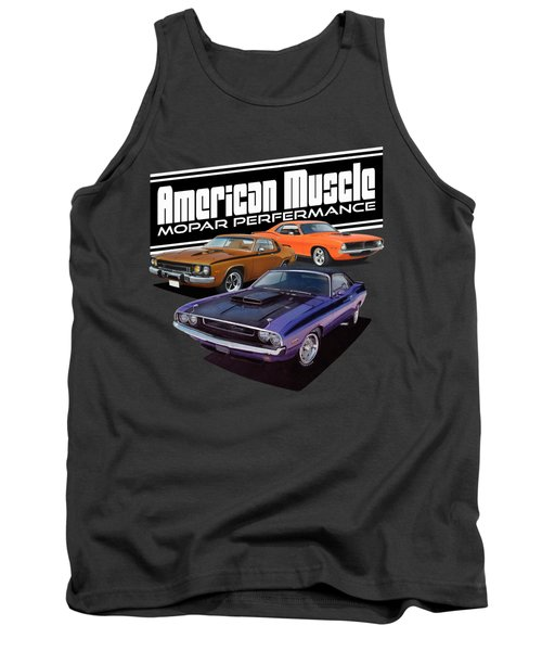 American Mopar Muscle Tank Top by Paul Kuras