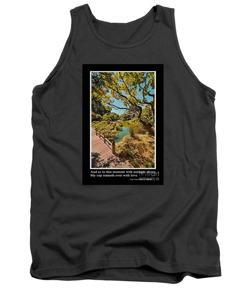And So In This Moment With Sunlight Above Tank Top by Jim Fitzpatrick
