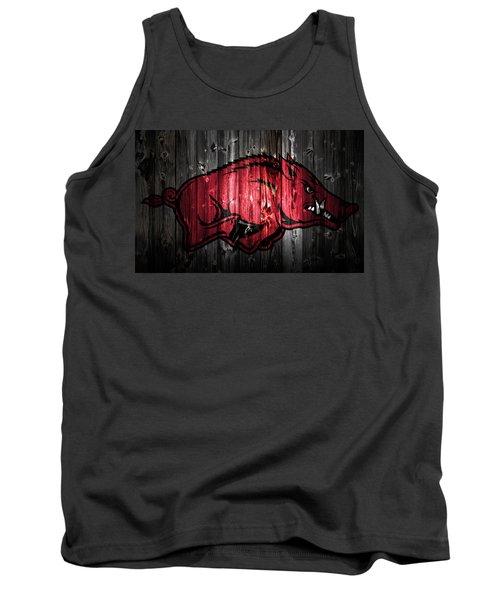 Arkansas Razorbacks 2a Tank Top by Brian Reaves