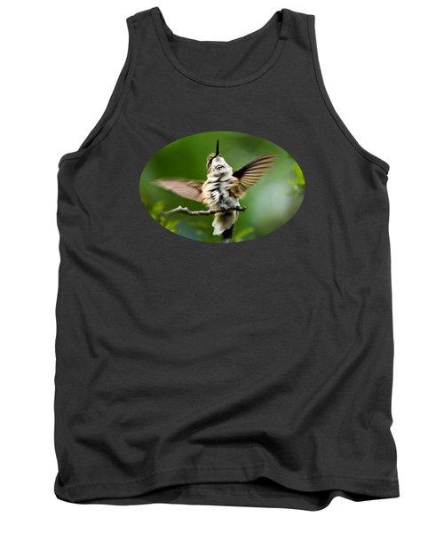 Hummingbird Happy Dance Tank Top by Christina Rollo