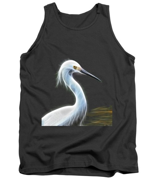 Snow Egret Tank Top by Shane Bechler