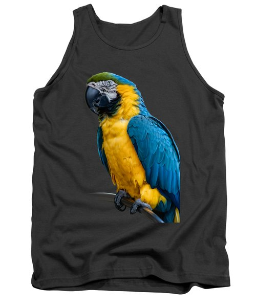 Blue Yellow Macaw No.1 Tank Top by Mark Myhaver
