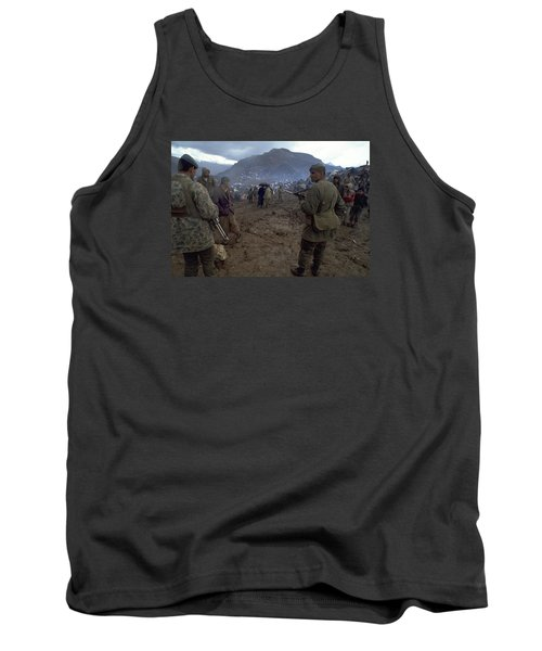 Tank Top featuring the photograph Border Control by Travel Pics