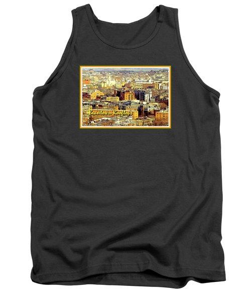 Tank Top featuring the digital art Boston Beantown Rooftops Digital Art by A Gurmankin